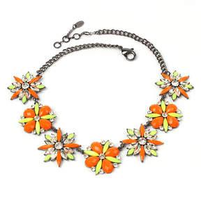 Amrita Singh Orange & Yellow Austrian Crystal Ritzy Necklace