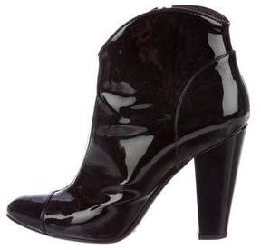Burberry Patent Leather Ankle Boots