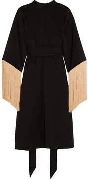 Ellery Ritz Fringed Jersey Midi Dress - Black