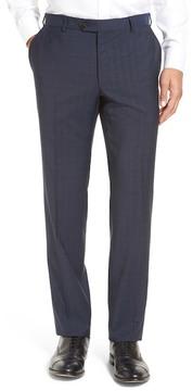 Pal Zileri Flat Front Plaid Wool Trousers