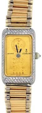 Corum 18K Yellow and White Gold Diamond Watch Bracelet