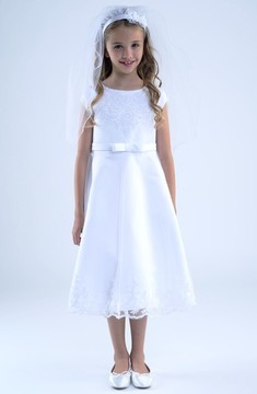 Us Angels Girl's Embroidered A-Line Dress