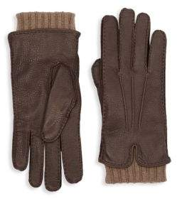 Loro Piana Stirling Leather & Cashmere Gloves