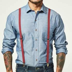 Blade + Blue Cranberry Red Elastic Suspenders