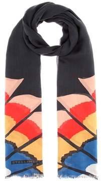 Stella McCartney Printed silk-blend scarf