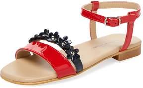 Oscar de la Renta Patent Leather Strap Sandal