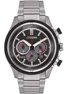 Citizen TI+IP CA4240-82E Silver/Black Analog Eco-Drive B620 Men's Watch