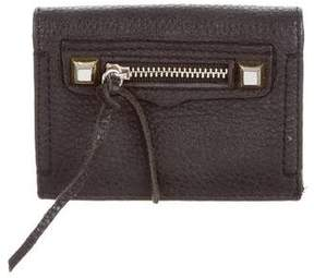 Rebecca Minkoff Leather Studded Wallet - BLACK - STYLE