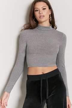 Forever 21 Cropped Knit Turtleneck