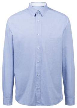 HUGO Boss Relaxed-fit cotton shirt a structured stripe pattern Evory S Dark Blue