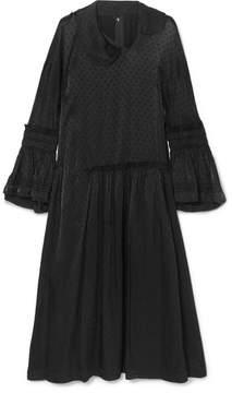 Comme des Garcons Satin-jacquard Midi Dress - Black
