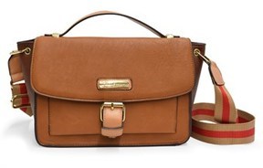 Adrienne Vittadini The Earn Your Stripes Collection Flap Top Satchel.