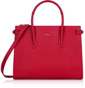 Furla Ruby Leather E/W Pin Small Tote Bag
