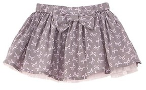 Chicco Girls' Grey Bow Skirt.
