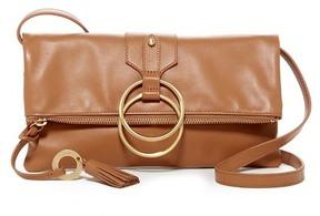 Badgley Mischka Leather Campaign Clutch