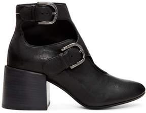 Maison Margiela Black Cut-Out Boots