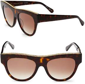 Stella McCartney Women's 51MM Flat Top Round Sunglasses