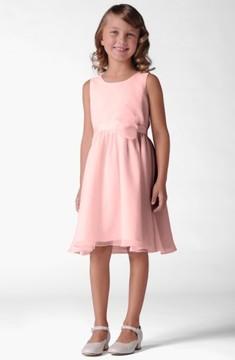 Us Angels Girl's Sleeveless Chiffon Dress
