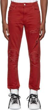 Amiri Red Mx1 Classic Jeans