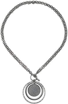 Apt. 9 Convertible Glitter Disc Pendant Necklace