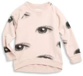 Nununu Toddler's & Little Girl's Eye Cotton Sweatshirt