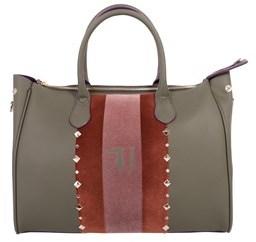 Trussardi Women's Green Polyurethane Handbag.