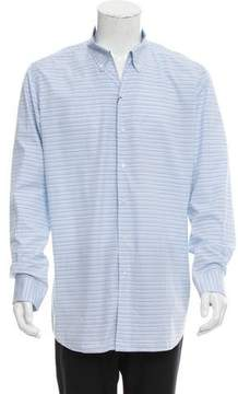 Luciano Barbera Striped Button-Up Shirt w/ Tags