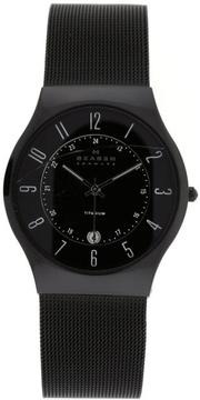 Skagen Titanium 233XLTMB Men's Stainless Steel Mesh and Black Titanium Watch