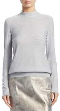 Akris Mockneck Cashmere& Silk Pullover