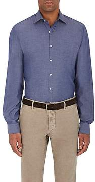 Piattelli MEN'S COTTON CHAMBRAY DRESS SHIRT