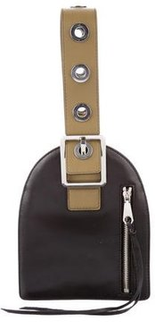 Rebecca Minkoff Bicolor Leather Handle Bag - BLACK - STYLE