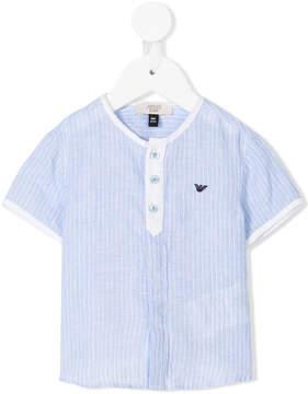 Emporio Armani Kids striped Henley top