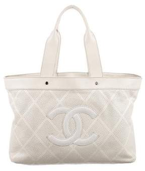Chanel Large CC Perforated Tote