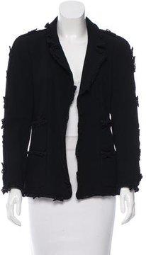 Chanel Wool Open Front Jacket