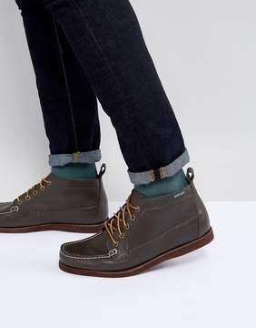 Eastland Seneca Leather Boots In Dark Brown