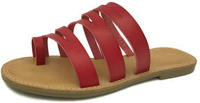 Bamboo Red Strappy Christy Sandal - Women