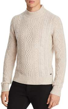 BOSS ORANGE Kabiol Cable Knit Mock Neck Sweater