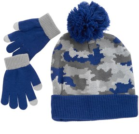 iXtreme Camo Beanie and Gloves Set (For Little Boys)