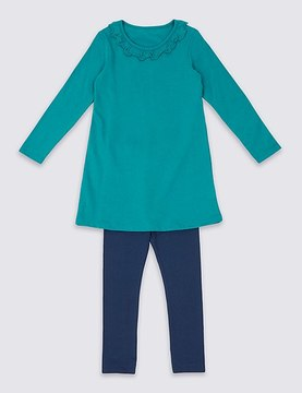 Marks and Spencer 2 Piece Top with Leggings Outfit (3 Months - 6 Years)