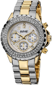 August Steiner Womens Two Tone Strap Watch-As-8031ttg