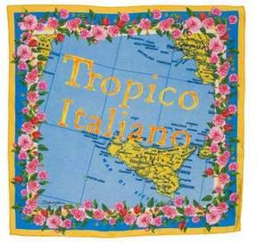 Dolce & Gabbana Silk 'Tropico Italiano' Handkerchief