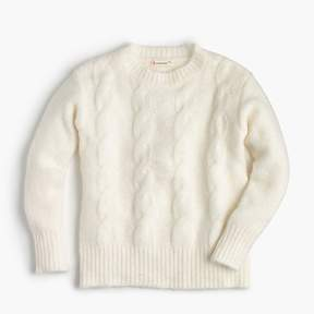 J.Crew Girls' cable-knit popover sweater