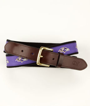 Vineyard Vines Baltimore Ravens Canvas Club Belt