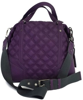 Rachel Roy Purple Quilted Large Crossbody Satchel