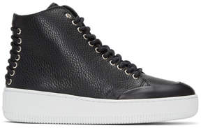 McQ Black Netil Eyelet High-Top Sneakers