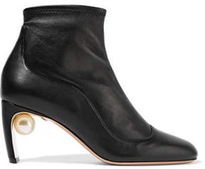 Nicholas Kirkwood Maeva Embellished Leather Ankle Boots - Black