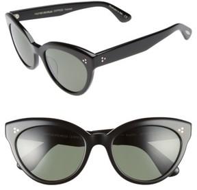 Oliver Peoples Women's Roella 55Mm Polarized Cat Eye Sunglasses - Black