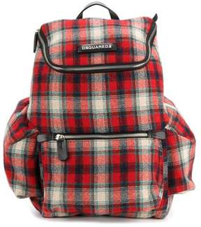 DSQUARED2 Men's Red Wool Backpack.