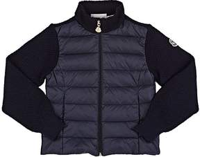 Moncler Kids' Down-Quilted Zip-Front Sweater