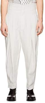 Haider Ackermann Men's Linen Drop-Rise Trousers
